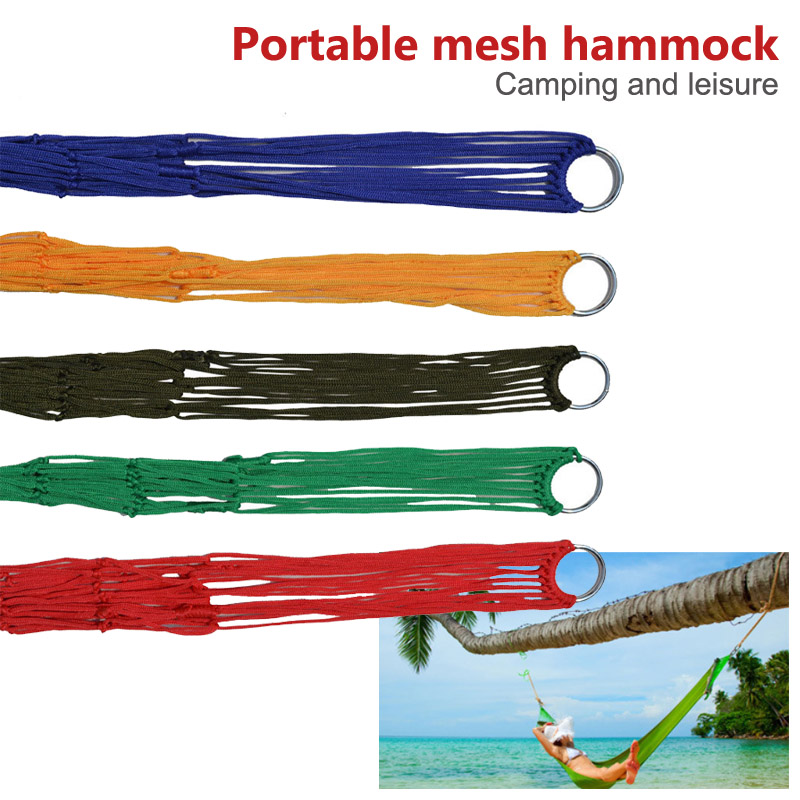 Camping Hunting Hanging Beds Outdoor Leisure Bed 240x80cm Sleeping 1 Pcs Nylon Hammock Swing Hammocks hammock tree hammocks outdoor camping child swing outdoor
