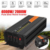 DC 24V To AC 220V Peak 4000W Car Pure Sine Wave Power Inverter Charger Converter Voltage Transformer Over load Protection