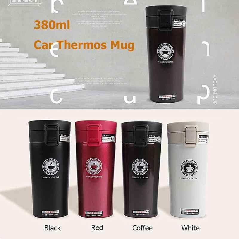 380ml Creative Double Layers Thermos cup Stainless Steel Thermo Cup Coffee Tea Travel Thermal Mug Bottle Vacuum Flasks Drinkware