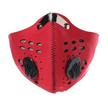 Pollution Gas  Mask Adult Anti PM 2.5 Pollen Dust Mask Washable Anti-fog Anti Dust Mask Activated Carbon Filter with 2 Filters