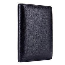 Повседневный Кошелек для монет, мужской кошелек, натуральная кожа, Обложка для паспорта, чехол для документов, мужской т-держатель, большая вместительность, Женский деловой держатель для карт