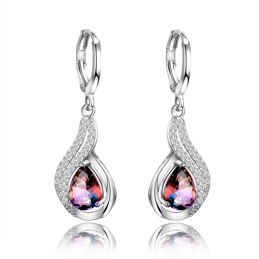 Multi-Color Gemstone Women/'s 925 Silver Ear Hook Drop Dangle Earrings Party Gift