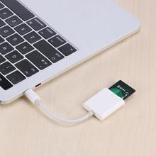 Белый USB 3,1 Тип-C USB-C памяти считыватель карт OTG Кабель-адаптер для Macbook смартфон samsung/huawei/Xiaomi