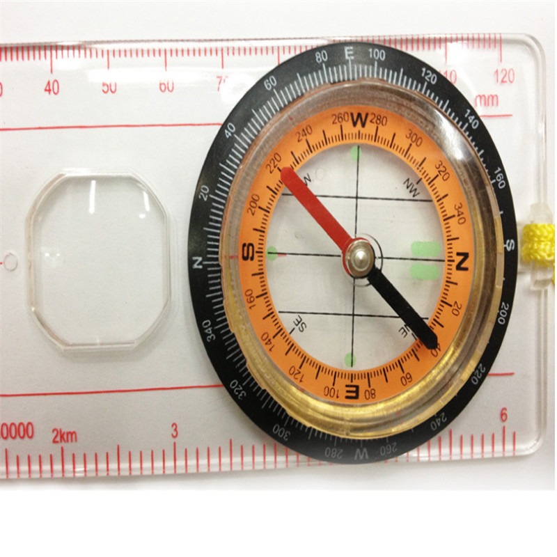 Hot Sale Outdoor Baseplate Ruler Map Scale Compasses Scouts Camping Hiking Kit Waterproof Compasses Outerdoor Tool