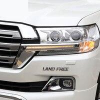 Светодиодный полоска фара для Toyota Land Cruiser 200 FJ200 2016 2017 2018 2019 Хром ABS дневного света аксессуары