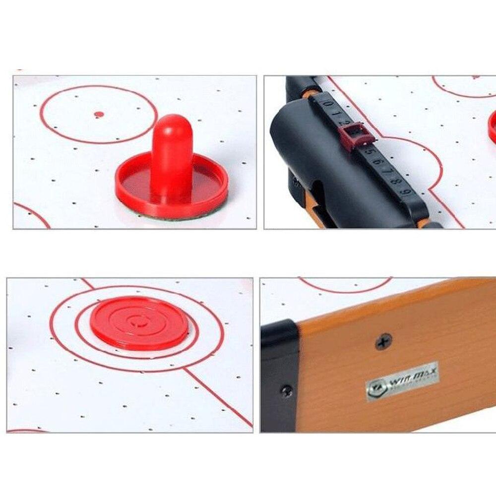 Jeux de table Mini Table Top Air Hockey jeu pousseurs rondelles famille noël cadeau Arcade jouet jeu jeu de balle - 4