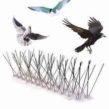 חם 1 15PCS הדברה פלסטיק ציפור ויונה קוצים אנטי ציפור אנטי יונה ספייק עבור להיפטר של יונים להפחיד ציפורים