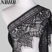 NBHB 3,2 ярдов черный белый 25 см Широкий кружево отделка шитье аксессуары ресницы кружева ленты для платья свадебные вечерние украшения
