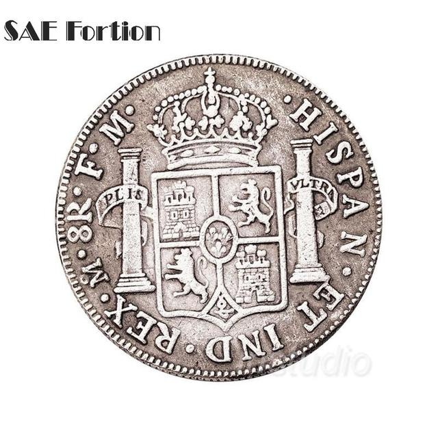 US $3 14 |1776 Spain Commemorative Coins Antique Coins Carved Copy Coin  Souvenir Free Shipping JNB3288-in Non-currency Coins from Home & Garden on