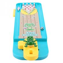 Mini Desktop Frog Bowling Table Intellectual Game Toy for Children Kids Developmental Educational Interative Toy for Boys Girls mini desktop bowling game toy set fun indoor parent child interactive table game bowling developmental toy