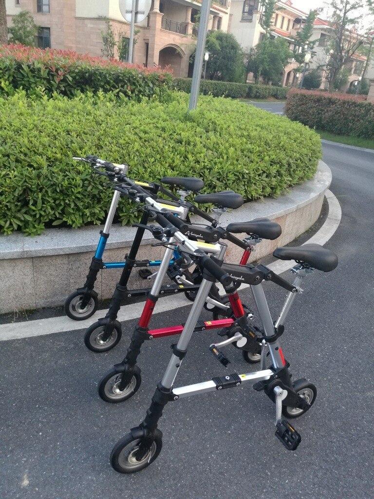 Mini-pli vélo Abike 8 pouces pli véhicule Minimum dépasser lumière vélo pliant vélo Bicicleta vélo nouveaux arrivants Bmx