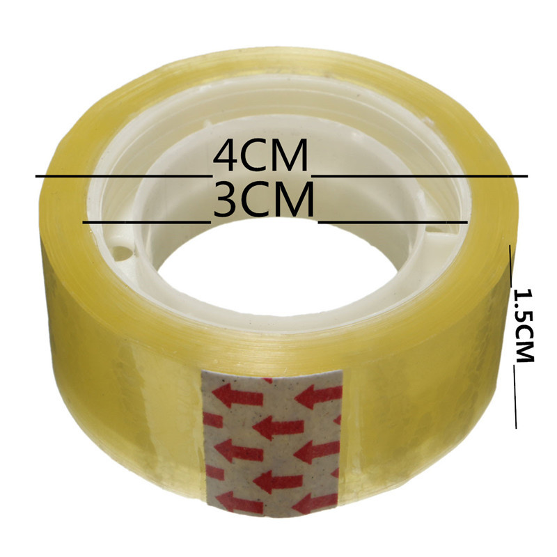 144 ROLLS GOOD TAPE CLEAR STATIONERY SELLOTAPE CARTON PACKAGE TAPE 24MM X 50M