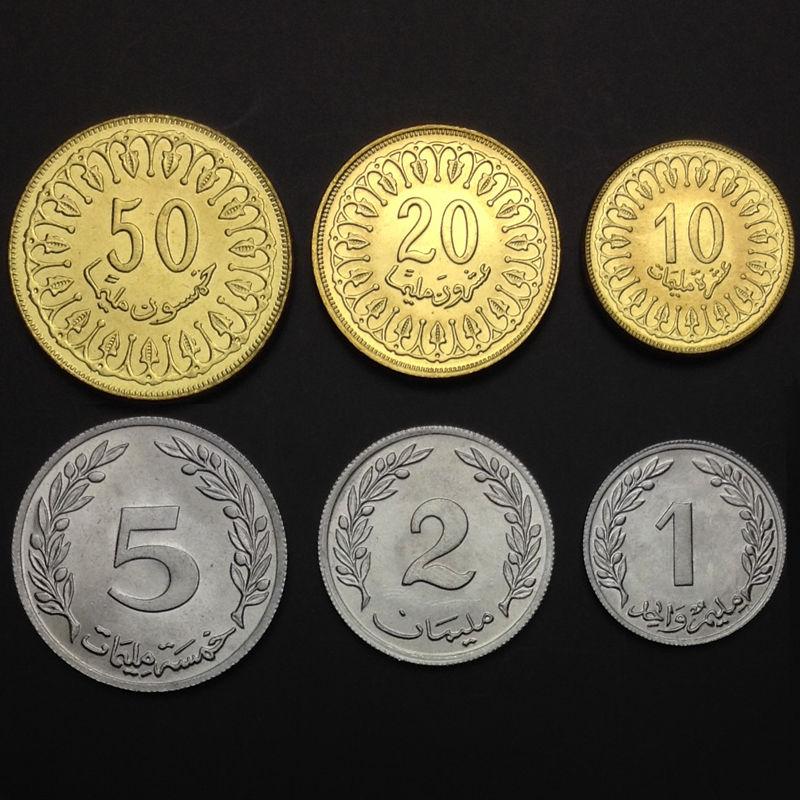 Tunisia 1 Millim 1960  BU lot of 25 BU coins