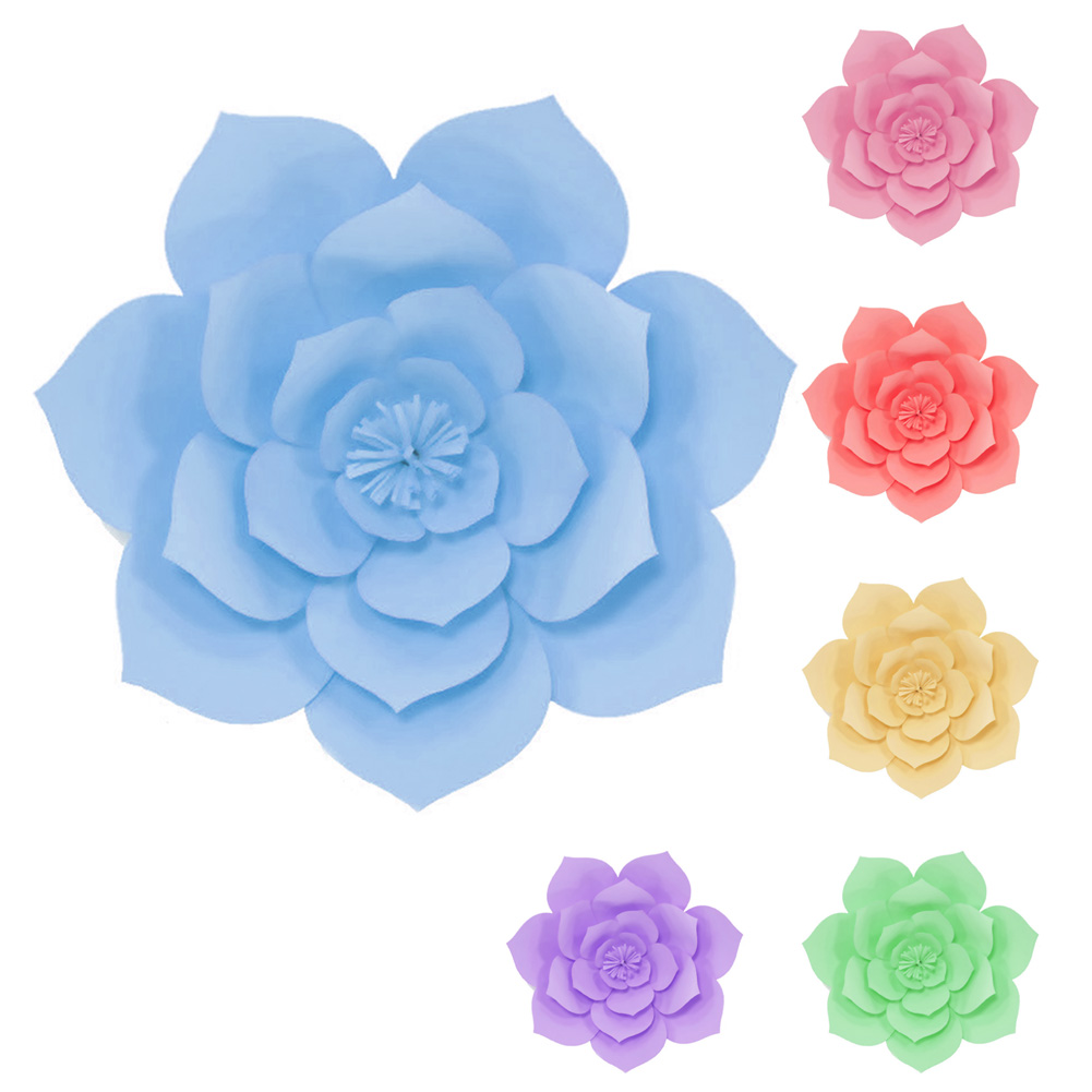 30cm Home Wedding Festival Holiday Decorative Flowers Party Supplies DIY Craft Artificial Rose Paper Beautiful Wall Dried Gift
