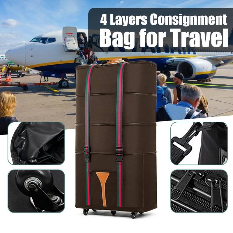 Bagaj ve Çantalar'ten Tekerlekli Bagaj'de 4 kat Geri Çekilebilir Katlanır Konsinye Bagaj Seyahat Çantası Su Geçirmez Oxford Saklama Bavul Seyahat Çantaları'da  Grup 1