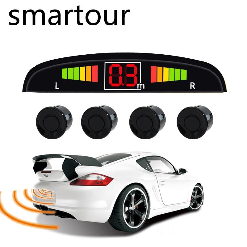 Smartour Viecar 4 Sensoren Summer 22mm Auto Parkplatz Sensor Kit Rückunterstützungsradar-ton alarm Anzeige Sonde System 12 v