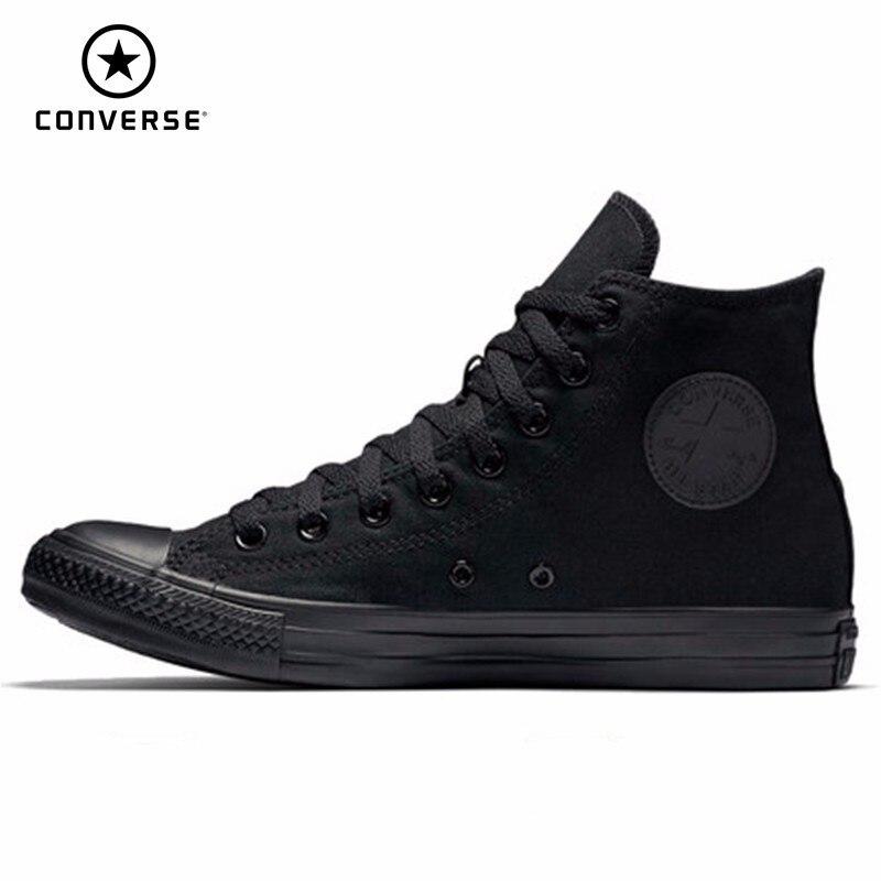 CONVERSE hommes et femmes chaussures de skate nouveauté haute aide noir classique baskets chaussures décontractées #1Z588