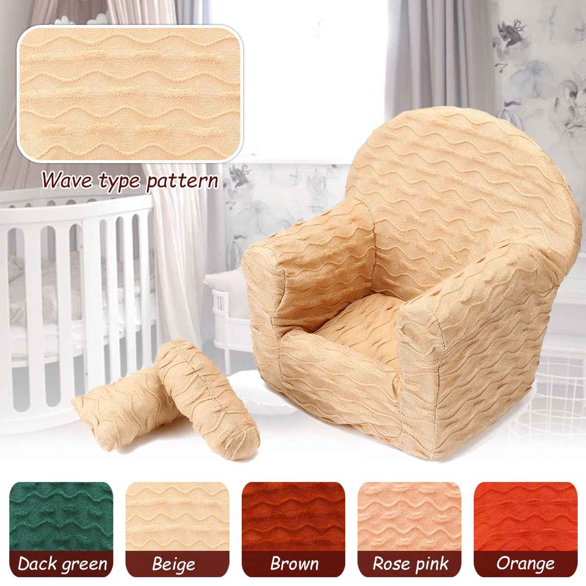 Newborn Photography Props Baby Posing Sofa Seats Newborn Baby Basket Baby Props Photography with 2 Pillows Mini Chair Seat girl