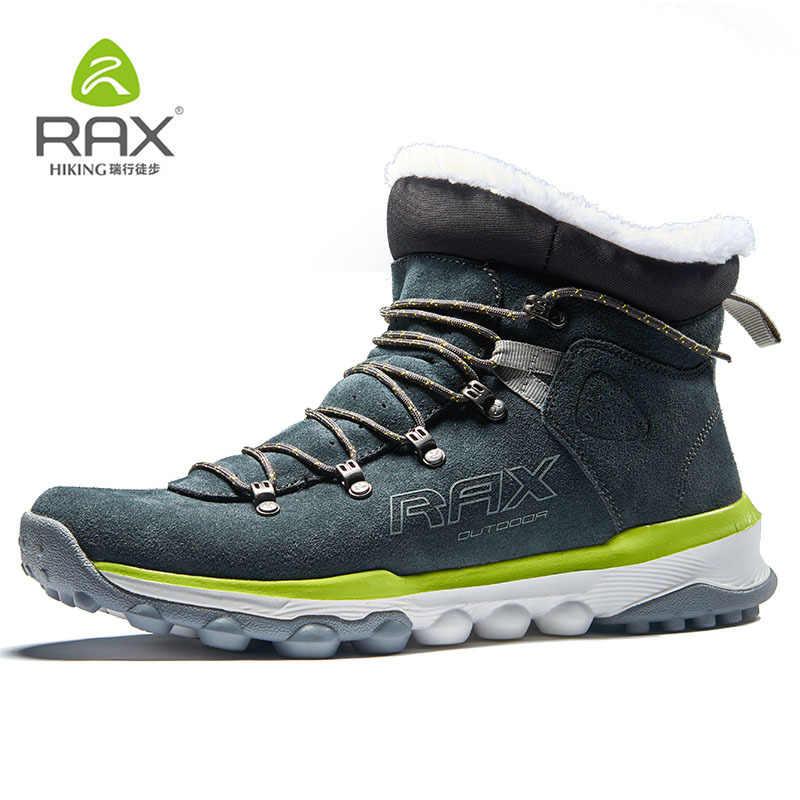 RAX Snowboots Mannen Bont Voering Anti-slip Wandelschoenen Vrouwen Lichtgewicht Outdoor Sneakers voor Mannen Trekking Laarzen Moutain klimmen