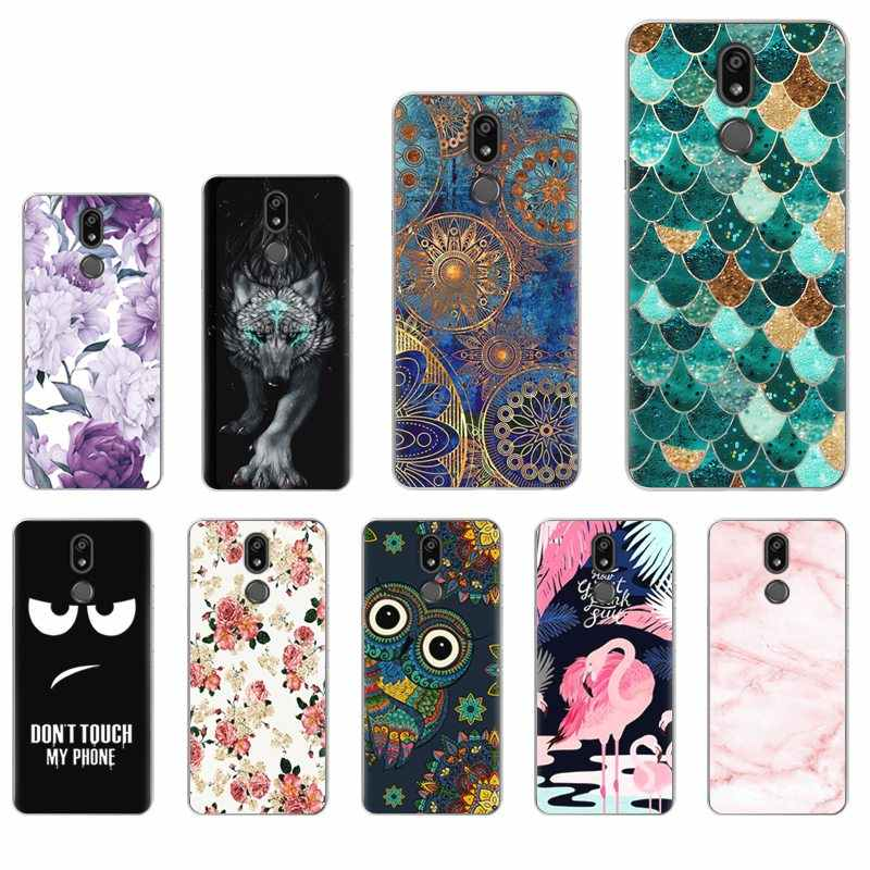 LG K40 / K12 Plus 5.7-inch Soft Phone Case Colorful Painted Fashionable Design TPU Silicone Back Phone Cover