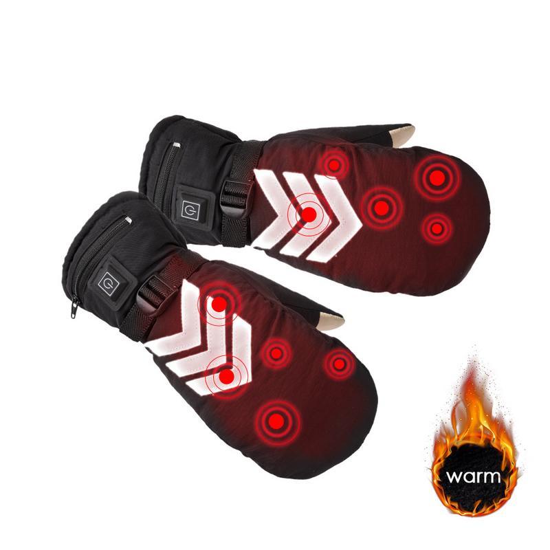 Gants thermiques électriques chauffés à la main EU/US Plug gants chauffants à écran tactile cyclisme moto vélo Ski gants unisexe