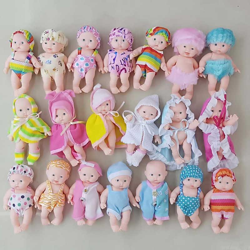 12cm muitos estilos de silicone brinquedo boneca bebê recém-nascido menino menina macio emulado reborn boneca crianças presente de aniversário brinquedo