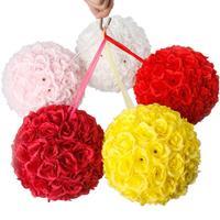 10Pcs 25CM Flower Balls Wedding Decoration Red Flowers Tissue Paper Pompoms Decoration Party Flower Ball