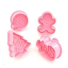4 шт. мини-резак для марок печенья формы для печенья 3D плунжерный резак для печенья DIY формы для выпечки инструменты пряники формочки для печенья