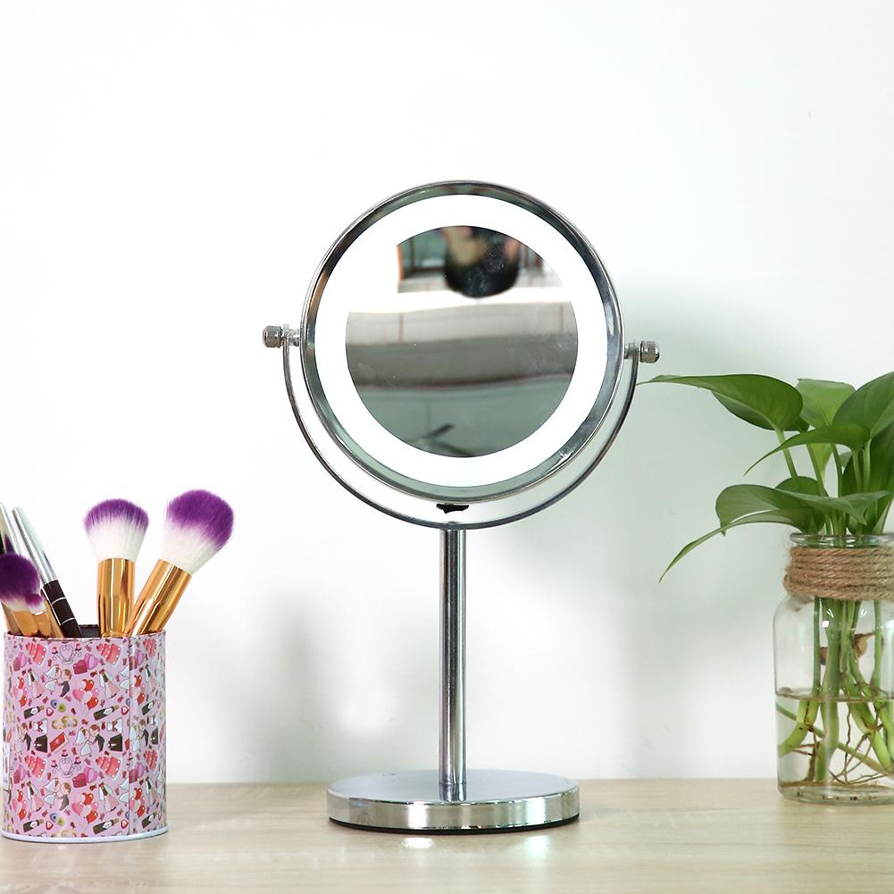 6 inch Round Bathroom Vanity Cosmetics Mirror for Shaving / Makeup LED Light Magnifying Makeup Mirror