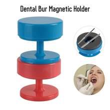 2 couleurs magnétique fraise dentaire fraises bloc support Cupule Case outils de soins bucco-dentaires accessoires outil de blanchiment des dents dentiste Instrument