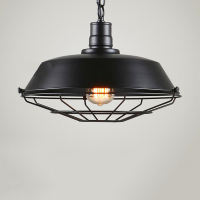 Modern Industrial Black Cage Lamp Shade Pendant Ceiling LED Light Decoration