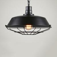 Modern Industrial Black Cage Lamp Shade Pendant Ceiling LED Light Decoration