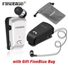 Orijinal Fineblue L18 Mini Kablosuz Kulaklık taşınabilir Çanta ile takım elbise Spor Sürücü iş Bluetooth Mic ile Kulak Kulaklık