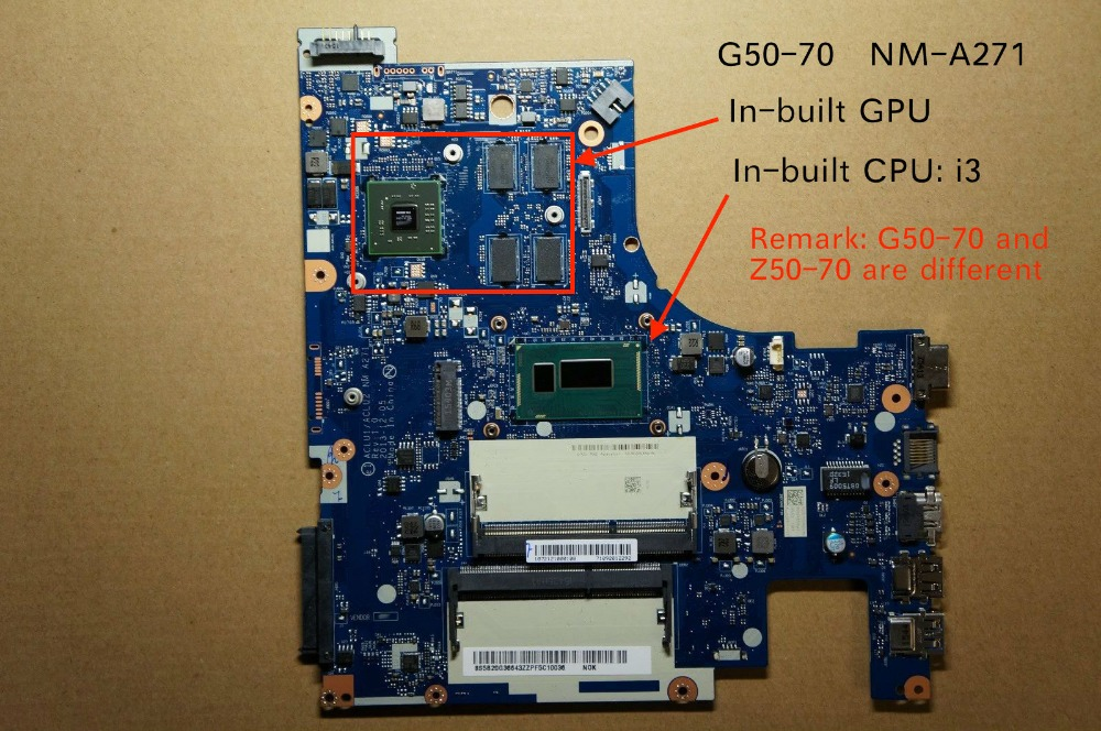Free Shipping New For Lenovo G50-70 ACLU1/ACLU2 NM-A271 Notebook motherboard with I3 cpu купить недорого в Москве