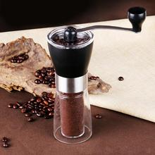 Manual Hand Crank Coffee Grinder Pepper Bean Machine Kitchen Clear Glass Jar Grinding Mill Tool Suitable for Camping Home Use