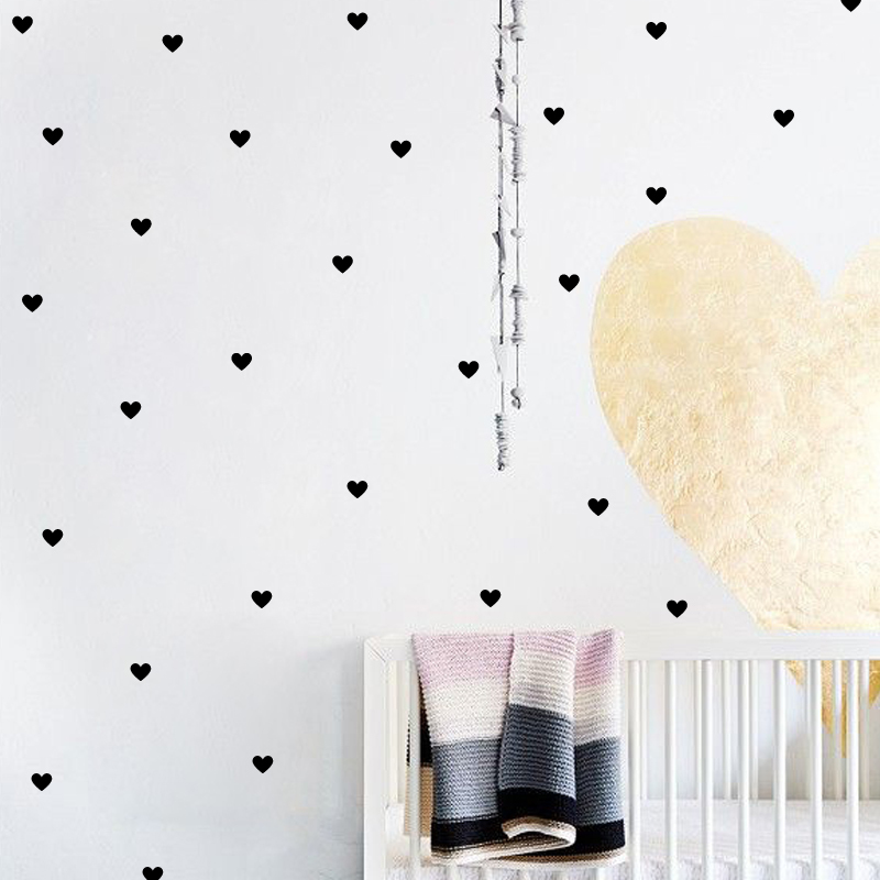 Diy 48pcs Little Hearts Wallpaper Removable Wall Decals Stickers For Living Room Baby Nursery Bedroom Home Decor Murals 56x30cmDiy 48pcs Little Hearts Wallpaper Removable Wall Decals Stickers For Living Room Baby Nursery Bedroom Home Decor Murals 56x30cm