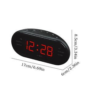 Image 5 - Przenośny głośnik LED cyfrowy budzik zegar AM/FM podwójny kanał Radio odtwarzacz wielofunkcyjny Stereo Hd dźwięki urządzeń biuro w domu