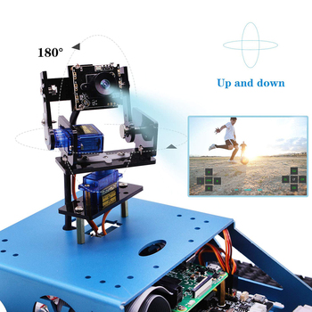 DIY Robot for Raspberry Pi Tank Smart Robotic WiFi Wireless Video Programe Electronic Toy Kids Adults Compatible for RPI 4/1G 1