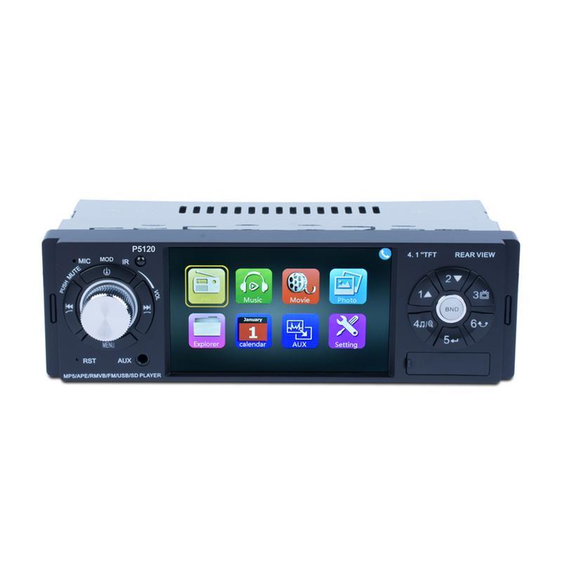 4.1 pouces Voiture LCD HD 1080 p Coloré Rétro-Éclairé Bouton L'image D'inversion ISO Port Bluetooth Android Media Player MP5 lecteur multimédia