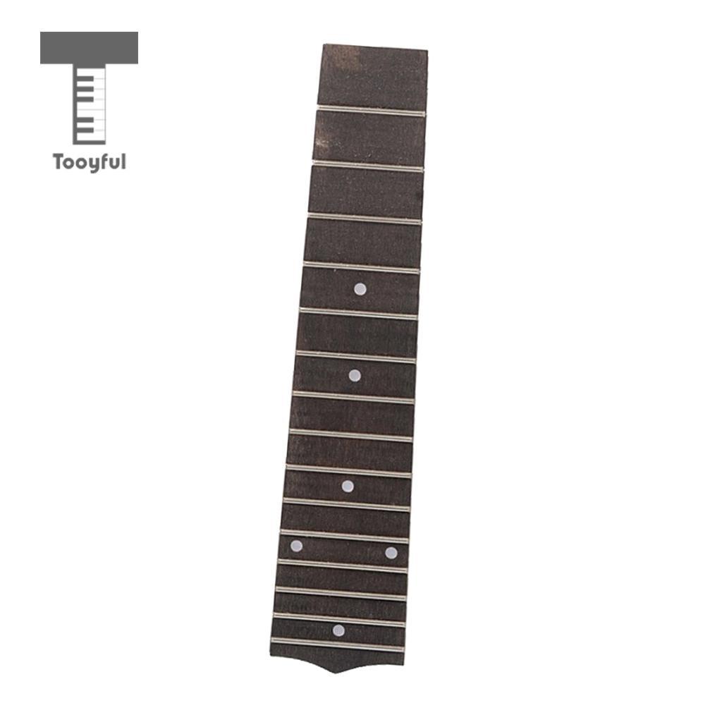 Tooyful Rosewood 15 Frets Ukulele Fingerboard Fretboard Mini 21 Inch Ukulele Parts