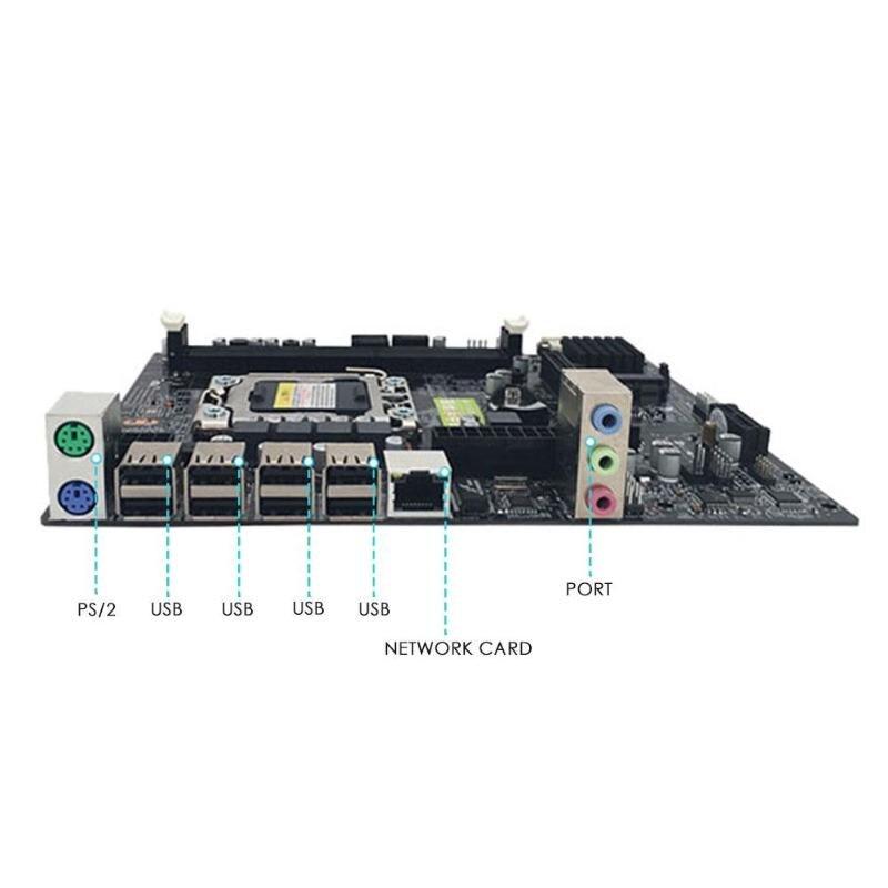 X79 LGA 1356 Pin carte mère de bureau RECC DDR3 serveur CPU carte mère DDR3 Double Double canal PCI-E X16 pour Intel H61 Hexa Core - 3