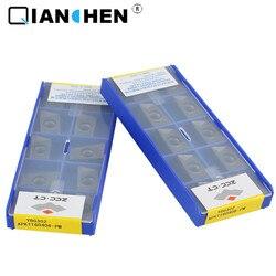 Oryginalny ZCCCT 10 sztuk wysokiej jakości o wysokiej wydajności o wysokiej wytrzymałości przemysł CNC APKT160408-PM YBG302 wkładki z węglików spiekanych
