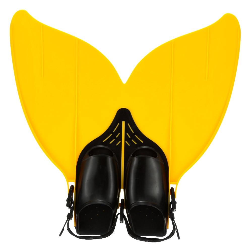 Natation adolescent nageoire de natation natation pied Flipper plongée Monofin queue de sirène palmes de plongée plongée sous-marine chaussures de plongée Flippers