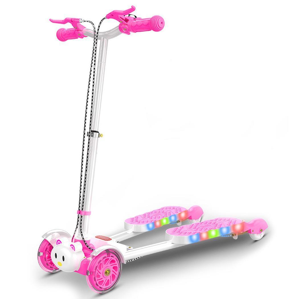 ANCHEER Детские самокаты 4 колеса Открытый Унисекс металлический самокат городской роликовый скейтборд для девочек мальчиков открытый скутер