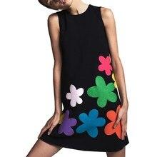 2019 Women Summer Bohemian Dress O Neck Floral Mini Elegant 3 Colors Vestidos