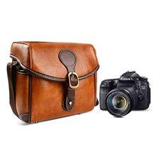 Saco da câmera do vintage, saco da câmera do ombro de dslr com inserções removíveis, caso à prova de choque impermeável da câmera para canon, nikon, sonny, n