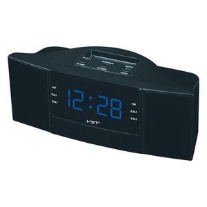 Image 3 - 휴대용 스피커 다기능 led 시계 am/fm 디지털 라디오 스테레오 사운드 음악 프로그램 장치 선물을위한 듀얼 밴드 채널
