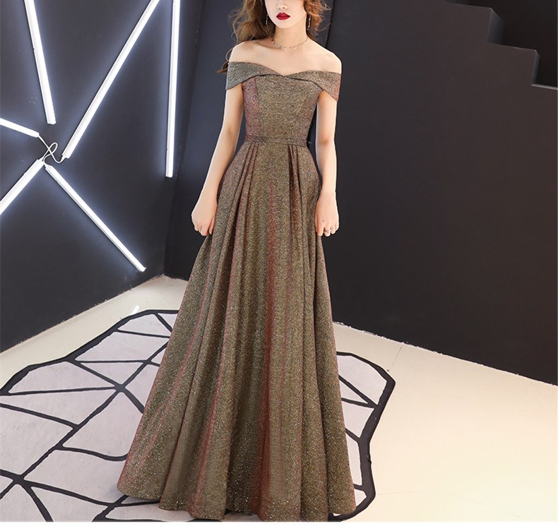 Summer Women Sexy Slash Neck Party Dress Glitter Long Maxi Dresses Elegant Swing Dress
