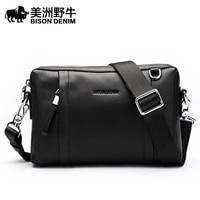 BISON DENIM известных брендов сумки мужские новый сумка через плечо натуральная кожа мужская сумка почтальона сумочки клатч сумка на плечо с бес
