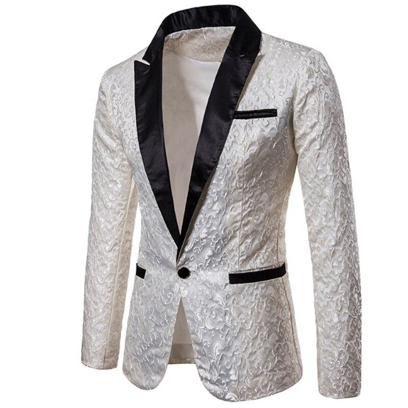 2019 Luxus Männer Anzug Smoking Blazer Slim Fit Anzug Einzigartige Mens Männlichen Blazer Kleid Jacken Hochzeit Party Zeigt Kostüm